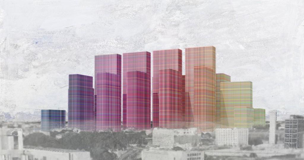 Stadtplastik über Berlin